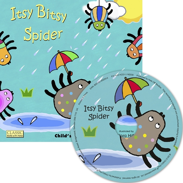 Classic Books With Holes:Itsy Bitsy Spider (With CD) 小小蜘蛛向上爬 童謠洞洞CD故事書