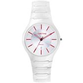 Relax Time 經典藍寶石陶瓷腕錶-白x紅時標/37mm RT-26-C3