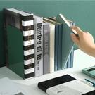 讀書架 創意風書立盒收納神器桌面學生用書架擋板鋼板金屬隔板放書支架【快速出貨八折鉅惠】