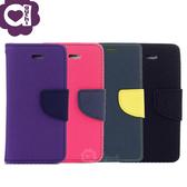 Samsung Galaxy S10e (5.8 吋) 馬卡龍雙色手機皮套 撞色側掀支架式皮套 紫桃藍黑多色可選