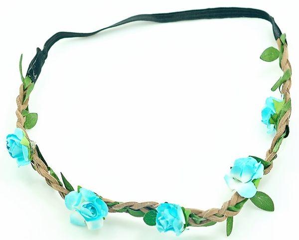 [協貿國際]  寫真小花髮飾髮箍波西米亞手工花朵髮帶 (5個價)