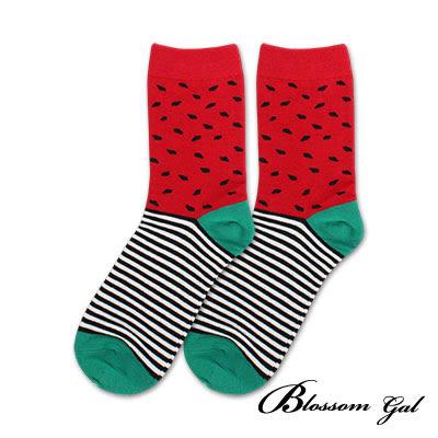 Blossom Gal 夏天就要吃小紅西瓜造型短襪(小紅西瓜)