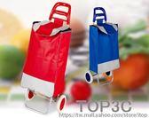 爬樓購物車買菜車小拉車手拉車超市小車布袋便捷家用拖車拉桿車「Top3c」