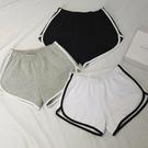 褲子女夏黑色新品外穿寬鬆運動休閒短褲正韓學生高腰寬熱褲