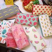 錢包 韓國卡通可愛小清新pu皮手拿便攜水果長款錢包學生錢夾女  『優尚良品』