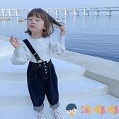 女童長袖T恤春秋小女孩秋裝泡泡袖兒童寶寶打底衫上衣【淘嘟嘟】