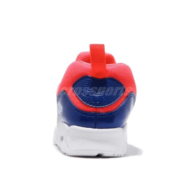 【五折特賣】Nike 休閒鞋 Air Max Tiny 90 TD 紅 藍 免綁鞋帶 氣墊 童鞋 小童鞋【ACS】 881924-604