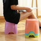 凳子 加厚小凳子塑料椅子換鞋凳家用小板凳兒童矮凳沙發穿鞋凳成人圓凳 【現貨快出】YJT