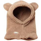 韓版可愛兒童護耳帽子圍脖一體毛絨加厚保暖嬰兒寶寶套頭帽防風萌