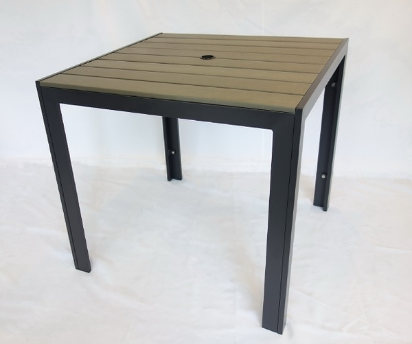 【南洋風休閒傢俱】戶外休閒桌椅系列-80公分塑木休閒餐桌椅組 餐桌椅組 適戶外 餐廳 民宿(PT-080)