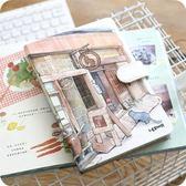 聯華創意彩色內頁旅行手帳本 學生韓國小清新插畫復古筆記本子 至簡元素