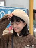 貝雷帽網紅貝雷帽女秋冬毛呢韓版日系百搭毛絨英倫復古冬季可愛蓓蕾帽子  雲朵 上新