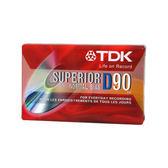 《鉦泰生活館》TDK-D90分鐘 空白錄音帶 10捲/盒