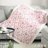 冬季羊羔絨毛毯辦公室蓋腿毯雙層加厚珊瑚絨午睡毯單人被子小毯子 js20754『小美日記』