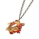 〔APM飾品〕日本Palnart poc 秋色楓林跳躍松鼠項鍊