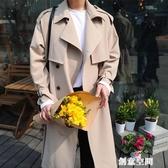 設計感風衣男2020新款韓版中長款帥氣過膝外套英倫秋冬季大衣潮流 創意新品