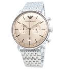 ARMANI 男士石英不銹鋼腕錶 AR11239