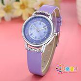 兒童手錶女孩防水學生可愛時尚女童電子錶小女孩潮流韓版休閒簡約