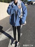 冬季新款韓版加厚加絨保暖牛仔棉服女學生bf寬鬆連帽棉衣外套 焦糖布丁 一米陽光