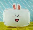 【震撼精品百貨】LINE FRIENDS_絨毛化妝包-兔兔(方形)