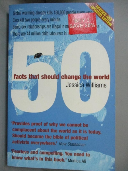 【書寶二手書T3/原文書_MQC】50 Facts That Should Change the World_Jessica Williams