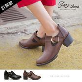 靴.開口剪裁踝短靴-FM時尚美鞋-訂製款.Wander