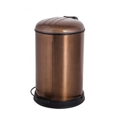 HOLA home復古緩降不鏽鋼垃圾桶12L 輝煌金
