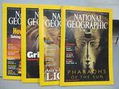 【書寶二手書T6/雜誌期刊_PCX】國家地理雜誌_2001/4~9月間_共4本合售_Pharaohs..._英文版