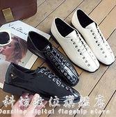 方頭鞋韓版chic小皮鞋女粗跟百搭英倫風女鞋復古春季單鞋女 科炫數位