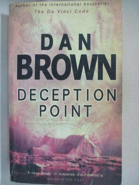 【書寶二手書T4/原文小說_AMI】Deception Point_Dan Brown