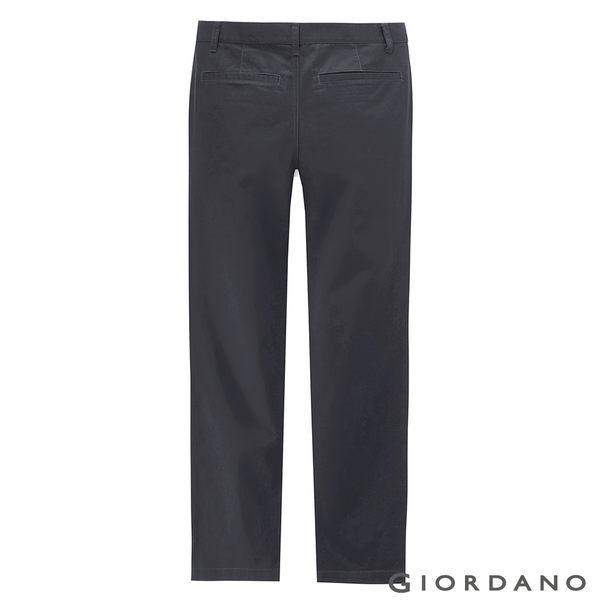 【GIORDANO】男裝基本款休閒長褲 - 07 石頭深灰