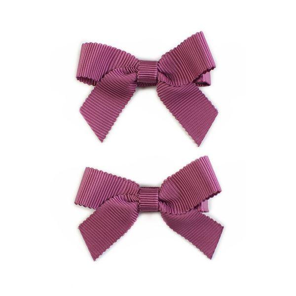 美國 Ribbies Clippies 經典蝴蝶結2入組-玫瑰