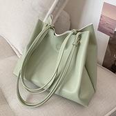 側背包 大容量簡約包包新款2021網紅時尚手提女包側背百搭ins托特子母包 嬡孕哺 免運