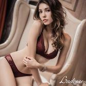 內衣Ladoore 伊莉莎白一片式舒適無鋼圈成套內衣(酒紅)