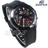 CASIO卡西歐 EDIFICE EFV-540PB-1A 賽車條紋 三眼錶 計時碼表 賽車錶 橡膠 男錶 EFV-540PB-1AVUDF