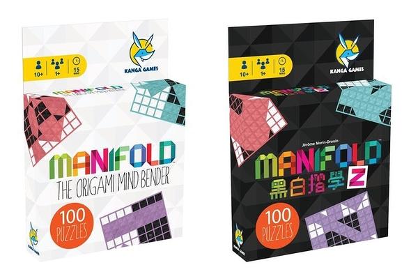 『高雄龐奇桌遊』 黑白摺學 1+2 Manifold 1+2 繁體中文版 單人桌遊 正版桌上遊戲專賣店