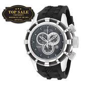 【INVICTA】繩索系列 - 三眼計時腕錶 -黑銀繩索