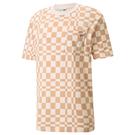 PUMA Downtown 男裝 短袖 T恤 休閒 格紋 棉 E.SO 瘦子 歐規 咖【運動世界】53159742