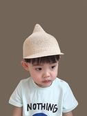 紳士帽 兒童禮帽潮男童鴨舌帽可愛奶嘴小女孩網帽透氣薄款寶寶草帽夏網紗 快速出貨
