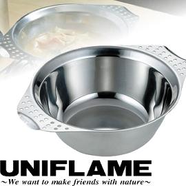 【UNIFLAME 日本 雙耳隔熱碗850ml 】U666319/隔熱碗/不鏽鋼碗