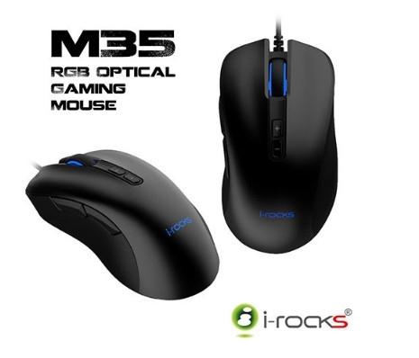 【超人生活百貨】i-Rocks M35 RGB背光 光磁微動開關 滑鼠 光磁微動開關 光學偵測