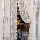 窗紗簾美式田園韓式唯美窗簾紗簾蕾絲公主風門簾臥室隔斷裝飾刺繡款 【快速出貨】