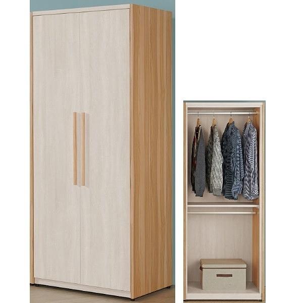 衣櫃 衣櫥 QW-037-5 亞特蘭2.64尺雙吊衣櫃【大眾家居舘】
