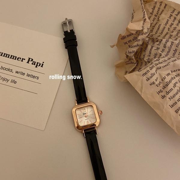 好看!韓國ins風復古手錶女簡約百搭小眾時尚氣質款學生文藝女錶 童趣屋