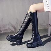 網紅長筒靴女2021新款秋冬季馬靴高筒皮靴不過靴內增高騎士長靴子 8號店