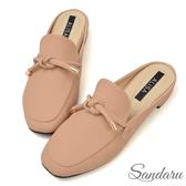 訂製鞋 小金飾綁結方頭穆勒鞋-艾莉莎ALISA【2588021】米色下單區