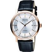 epos Originale原創系列 夢想家機械腕錶-銀x玫塊金框x黑/39mm 3387.152.24.18.15FB