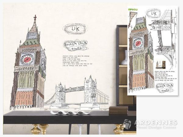 【ARDENNES】創意組合DIY壁貼/牆貼/兒童教室佈置/可重複貼 英國大笨鐘