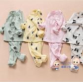 內衣褲 兒童衛生衣衛生褲棉質男女寶寶內衣套裝春秋0-1-2歲高腰肚3兒童睡衣 9色73-110 雙12提前購