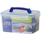 《真心良品》手提型密封保鮮儲藏盒6300ml(2入)